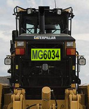 Grille Number Plate