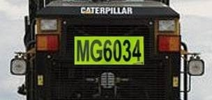 roof box call id reflective tape fyg fluoro yellow green