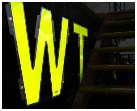 roof box call id reflective tape fyg fluoro yellow green grill number