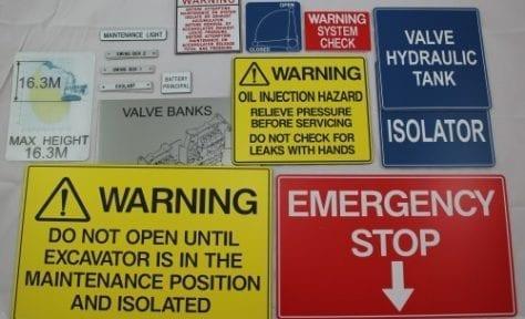 emergency warning labels