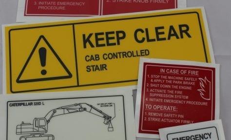 warning emergency label
