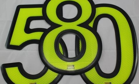 fluoro yellow green grill number