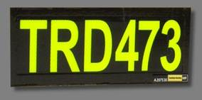 call id black background fyg fluoro yellow green text