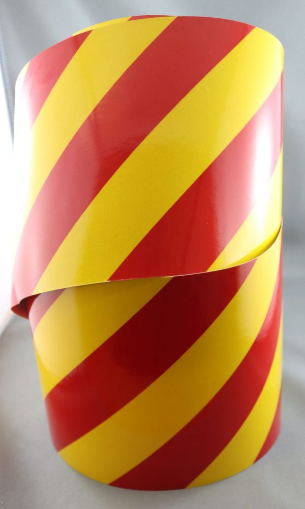 3m yellow/red class 2 3200 series reflective tape right