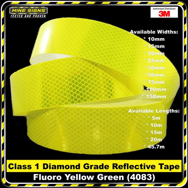 3M Fluoro Yellow Green (4083) Diamond Grade Class 1 Reflective Tape
