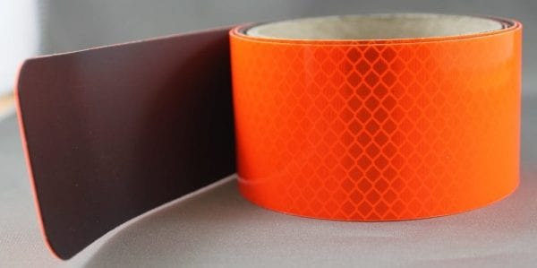orange magnetic black fluoro reflective tape