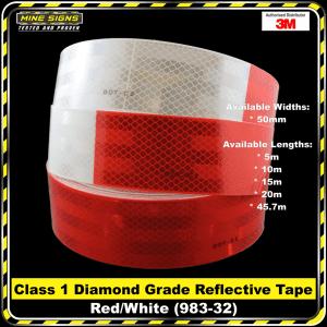 3M Red/White (983-32) Diamond Grade Class 1 Reflective Tape
