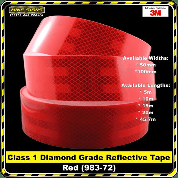 3M Red (983-72) Diamond Grade Class 1 Reflective Tape