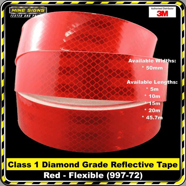 3M Red (997-72) Diamond Grade Class 1 Flexible Reflective Tape