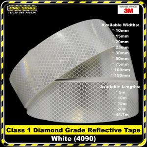 3M White (4090) Diamond Grade Class 1 Reflective Tape