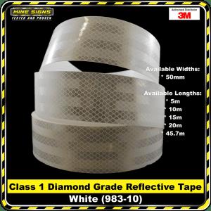 3M White (983-10) Diamond Grade Class 1 Reflective Tape