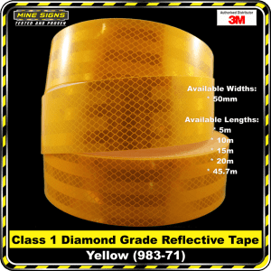 3M Yellow (983-71) Diamond Grade Class 1 Reflective Tape