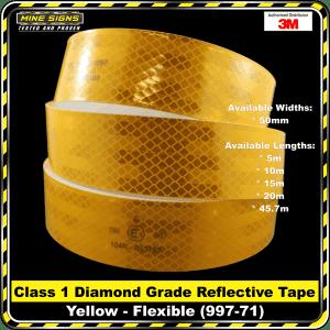 3M Yellow (997-71) Diamond Grade Class 1 Flexible Reflective Tape