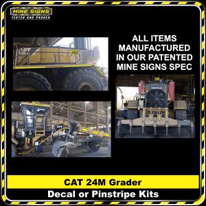 Mine Signs Spec Kit - Cat 24M decal pinstripe