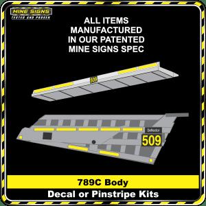 Mine Signs Spec Kit - Cat 789C Body decal pinstripe kit