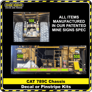 Mine Signs Spec Kit - Cat 789C Chassis decal pinstripe