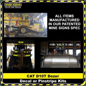 Mine Signs Spec Kit - Cat D10T decal pinstripe