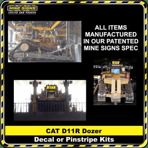 Mine Signs Spec Kit - Cat D11R decal pinstripe