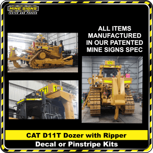 Mine Signs Spec Kit - Cat D11T With Ripper decal pinstripe
