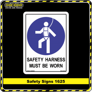 Mandatory Safety Harness Must Be Worn (Safety Sign 1625)