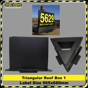 Triangular Roof Top Box (HDPE) 565x680mm