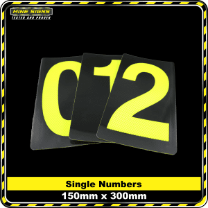 Number Reflective Stickers 150x300mm
