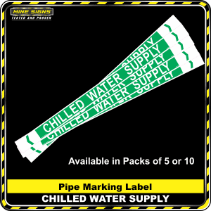 pipe marking label chilled water supply