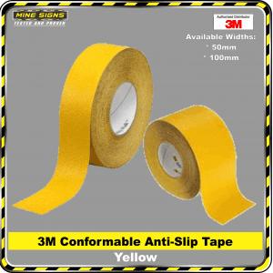 3m conformable yellow anti slip tape