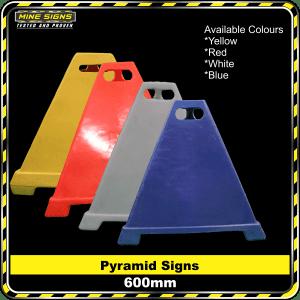 pyramid signs 600mm high