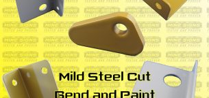 mild steel cut bend and paint