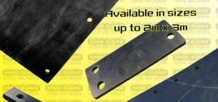 rubber cutting available in sizes up to 2m x 3m
