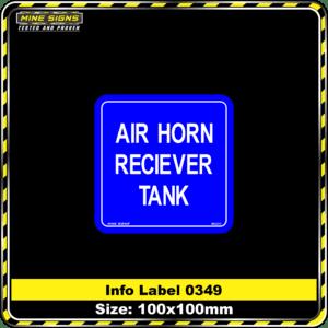 Air Horn Reciever Tank