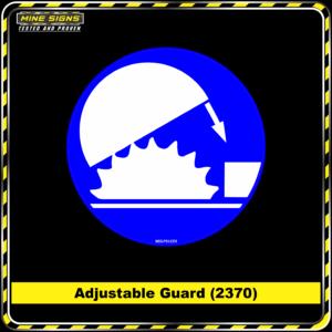 MS - Mandatory Signs - Circles - Adjustable Guard - 2370