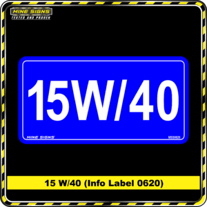 MS - Product Background - Safety Signs - 15W 40 0620