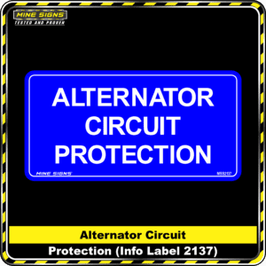 MS - Product Background - Safety Signs - Alternator Circuit Protection 2137
